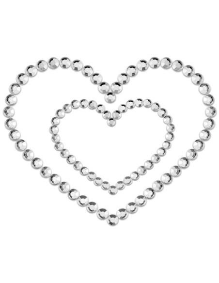 Tapa Mamilos Mimi Heart Bijoux Indiscrets Transparentes - PR2010324323