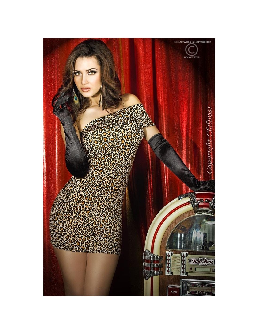 PR2010318420 - Vestido Cr-3322 Leopardo - 36-38 S/M-PR2010318420