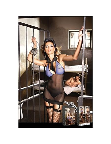Conjunto Fantasia de Mulher Polícia - Azul - M/L #1 - PR2010313010