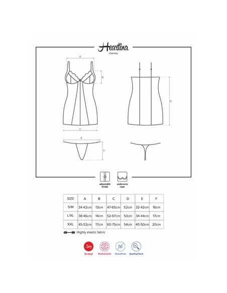 Camisa de Noite e Tanga Heartina Obsessive - 36-38 S/M #2 - PR2010343637