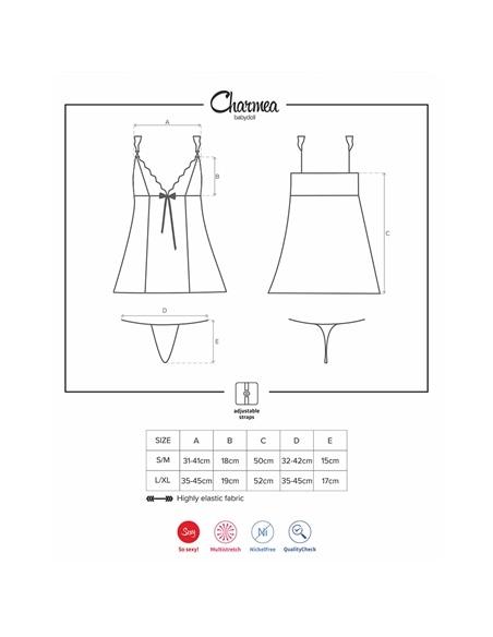 Camisa de Noite e Tanga Charmea Obsessive - 36-38 S/M #2 - PR2010346033