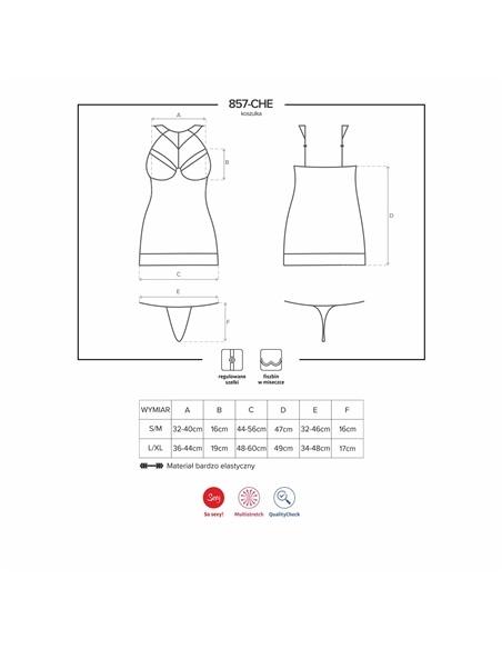 Camisa de Noite e Tanga 857-Che Obsessive Preta - 36-38 S/M #3 - PR2010351390