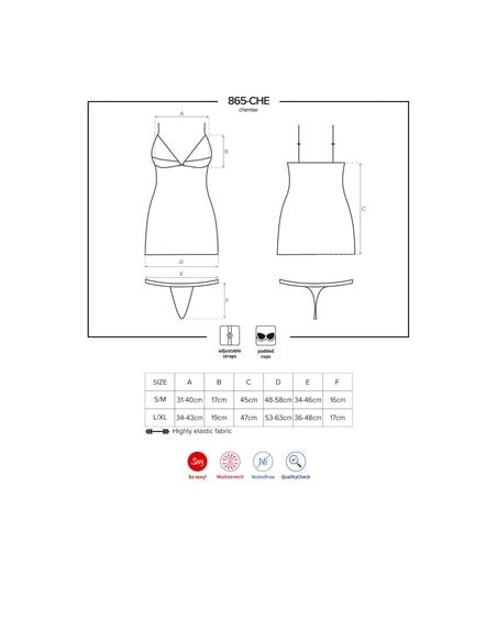 Camisa de Noite e Tanga 865-Che Obsessive - 36-38 S/M #3 - PR2010352235