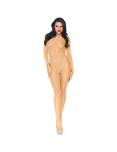 Catsuit Nude Translúcido com Costura Frontal - T. ÚNICO - PR2010314367