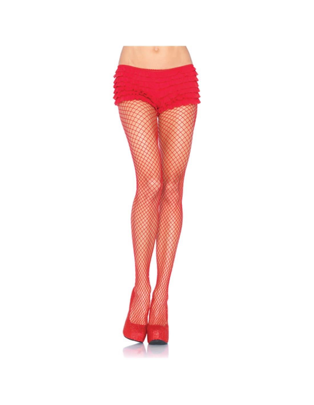 Collants de Rede Industrial Vermelhos - Vermelho - T. ÚNICO - PR2010323511